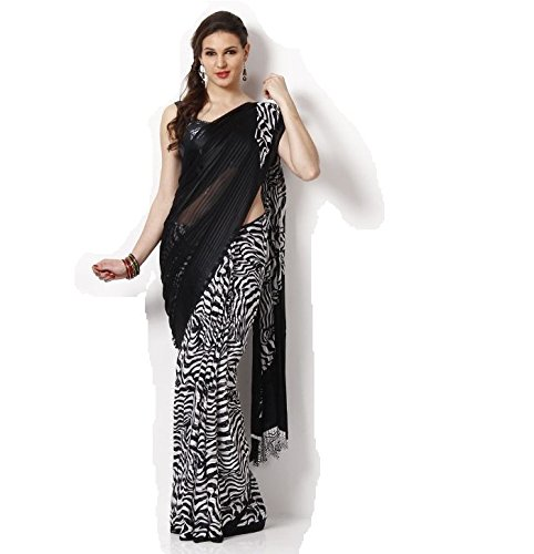 Avr Fashions Satin Saree (Avr_402_Black)