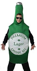 Disfraces de Botella de Cerveza de I Love Fancy Dress ilfd4532 (Talla única)