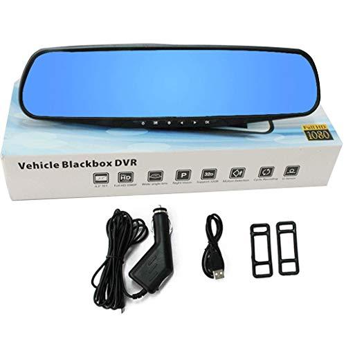 Rückspiegel CarLog Hochauflösender ultradünner Blu-ray-Spiegel 1080P 140-Grad-Weitwinkelschießen Schwerkraftinduktion 30,5 * 8 cm