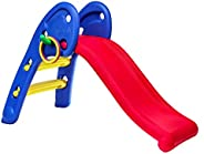 eHomeKart Garden Slide for Kids - CUTE Foldable Beginners Slider - with Ring Hoopla - For Boys and Girls - Per