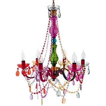 Silly lamp 6 arms chandelier gypsy multi colour amazon silly lamp 6 arms chandelier gypsy multi colour aloadofball Images