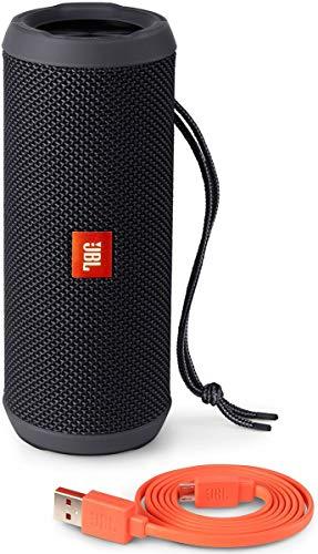 JBL Flip 3 Speaker Bluetooth, Portatile, Ricaricabile a Prova di Spruzzi, Microfono per Chiamate in Vivavoce, Compatibile con Smartphone/Tablet e Dispositivi MP3, JBL Connect, Nero