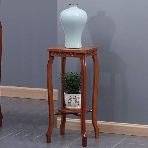 YST YSTChinese Blume Ständer Bambus Blume Mehrere Massivholz Blumentopf Regal Wohnzimmer Boden Blumentisch Indoor Grüne Rose Rack Vintage Rack (Size : A-66.5CM) -