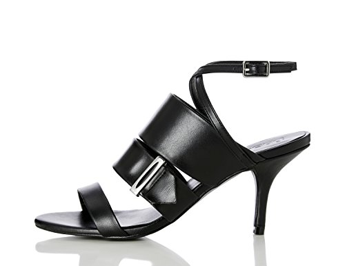 FIND Damen Sandalen mit Riemchenverschluss Schwarz (Black)