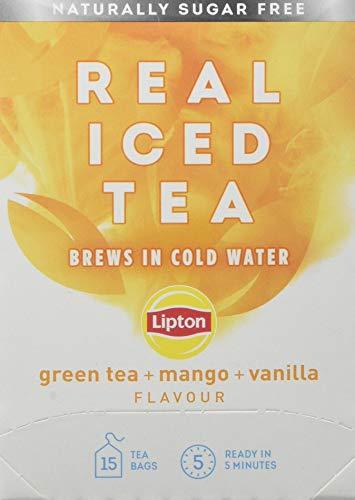 Lipton Cold Brew Green Tea Mango 15 Tea Bags, Pack of 5