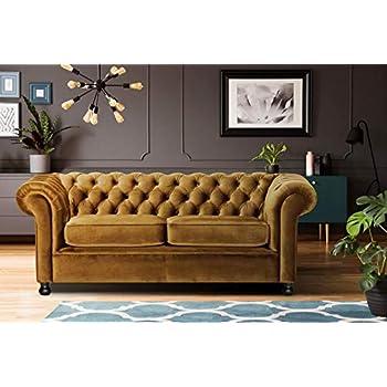 Tremendous Lillyput Interio Zia 3 Seater Velvet Sofa Set Yellow Home Remodeling Inspirations Cosmcuboardxyz