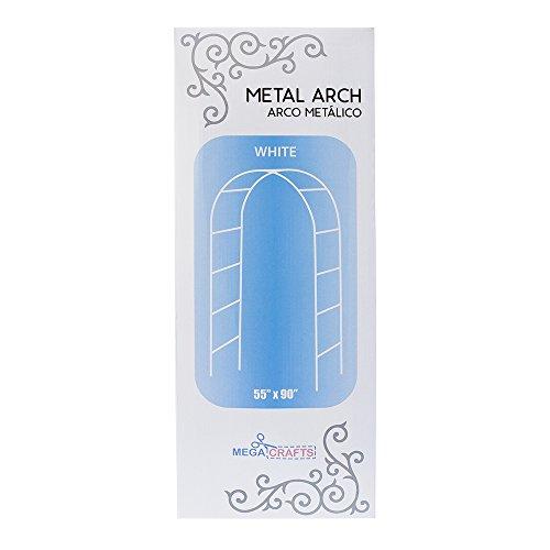 Mega Crafts-7,5'dekorativen Metall Arch in weiß, Set 1| für Home Décor, Hochzeit Blumensträuße & rezeptionen, Party Décor, Feiern, Sweet 16, Quinceañera & vieles mehr