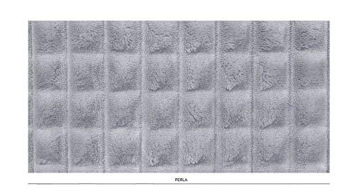 Diamante Decke (Jolie Cavalieri Decke Plaid Diamante 1 Liegeplätze, 170 x 210 cm, superweich, Mikrofaser-Effekt 5 Perla)