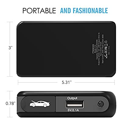 MoKo Baterías de Coche – Portátil Jump Starter Multi-Función Cargador Externo / 8000mAh 400A Power Bank para Vehículo, Arrancador Lámpara de Emergencia/Linterna,