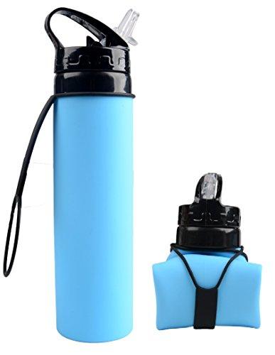 bleu clair Homme bouteille deau /étanche pour enfants sans BPA Bouteille deau brumeuse 0,6L bouteille de sport /à vaporisateur
