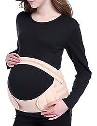 Zhhlinyuan mujeres embarazadas Maternity Support Belt Waist Back Abdomen Soft Belly Band