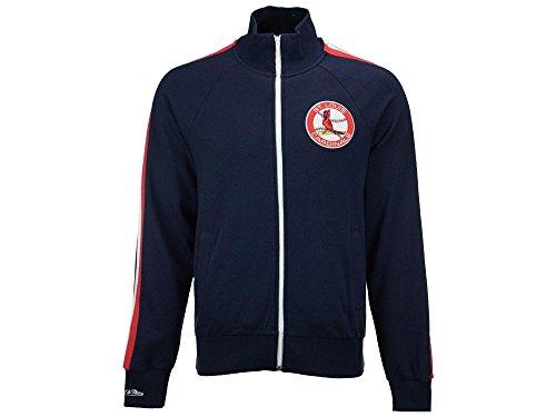 Mitchell & Ness MLB Men 's Division Champions French Terry Full Zip Jacket, Damen Mädchen Jungen Herren, Navy, 5X-Large Terry Zip Front Jacket