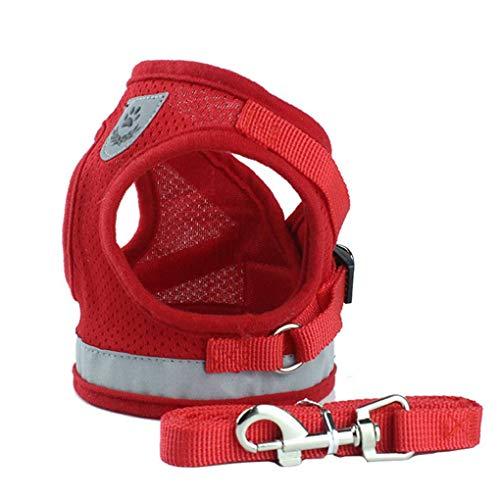 Lorsoul Hundegeschirr Tageshemd, Trainings Dog Walking Weste Kleidung Welpengeschirr Jacke, für Kleine Meduim große Hunde - XS