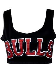 """MyMixTrendz - Haut style brassière imprimé """"Bulls"""" modèle femme"""