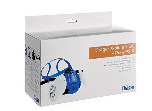 Dräger X-plore 3500 Halbmasken-Set inkl. P3 Partikelfilter | Handwerker und Heimwerker | Größe M