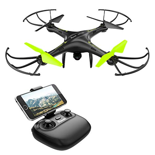 Potensic Drone con Telecamera Quadricottero Telecomando WiFi FPV Dotato delle Funzione Modalita...