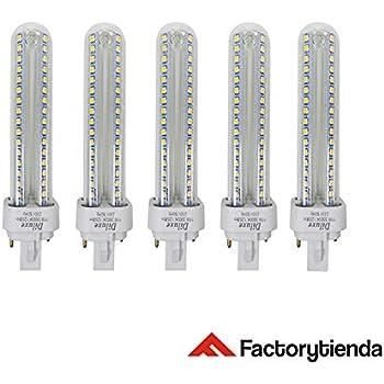Pack x5 Lámpara Downlight LED G24 15 watios(equivalente a 150 watios), 1350