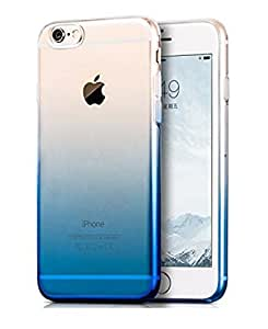 INAUGURAL DISCOUNT - iPhone 7 Back Case Cover, Amozo® Gradient Soft Silicone Transparent Back Cover Case for Apple iPhone 7, Blue