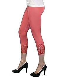 S&LU super moderne Capri-Leggings mit Spitze oder mit Spitze und Schleifchen in wunderschönen Farben Größe XS - L