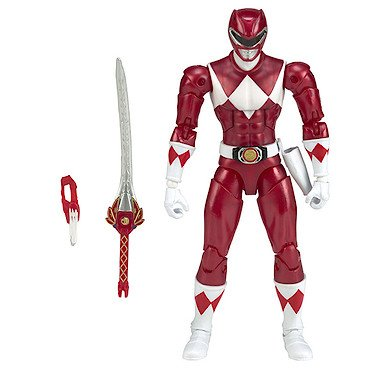 Power Rangers Legacy – Power Rangers : Mighty Morphin – Ranger Rouge – Figurine Deluxe 16,5