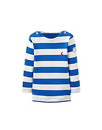 1fb174f0e Joules Baby Boys Long Sleeved Harbour Striped Top - Ocean Blue Stripe:  Amazon.co.uk: Clothing