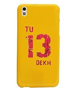 KolorEdge Back Cover For HTC Desire 816 - Yellow (1030-Ke15139HTC816Yellow3D)