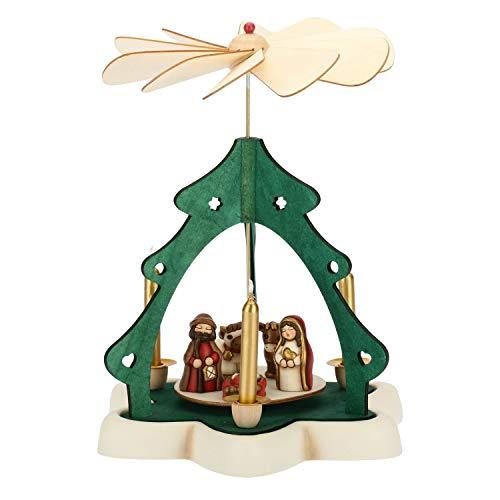 Thun piramide natalizia con mini presepe-ceramica-h 27,5 cm-linea i classici