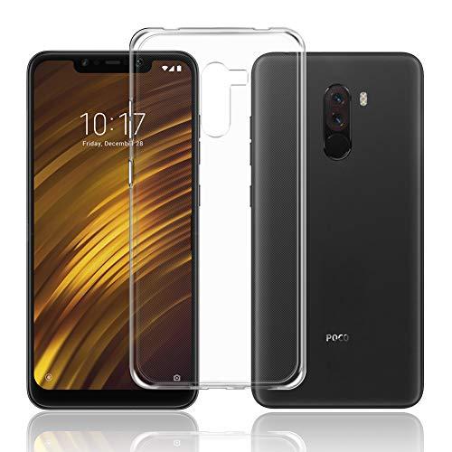 TopACE Cover Xiaomi Pocophone F1 Xiaomi Pocophone F1 Custodia Puro Trasparente Morbida TPU Silicone Ultra Sottile Case per Pocophone F1 (Trasparente)