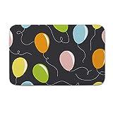 DKISEE Fußmatte für den Innen- und Außenbereich, Fußmatte mit Luftballon-Muster, Flanell, 15.7