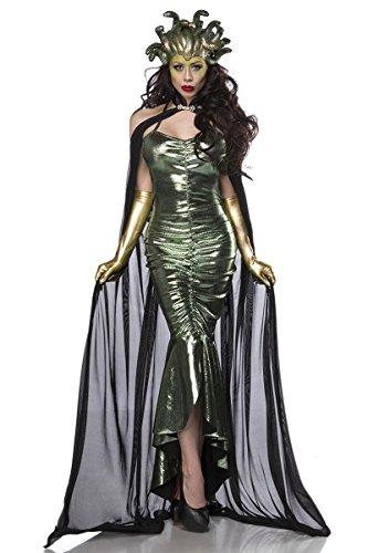 Medusa Kostüm Damenkostüm Medusakostüm Karneval Fasching (Mystic Kostüm)