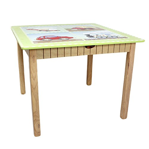 ruppe, Tisch und Stühle, Motiv Verkehr (Kunst-tisch Für Kleinkinder)