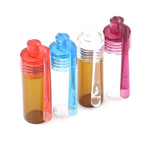 fish 4Pcs 36MM bewegliche Glas runde Flasche Wasserdicht Pille Fall Sealed Tablettenbehälter Kleine Schnupftabak-Flaschen (Große Pille Fall)