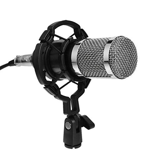 Lorenlli BM800 Dynamisches Kondensatormikrofon Sound Studio Audio Aufnahme Mikrofon mit Shock Mount für Broadcasting KTV Singing