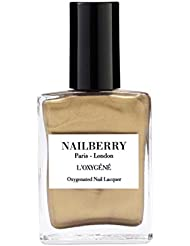 Nailberry L'oxygene Oxygenated Nail Lacquer, Gold Leaf 15 ml