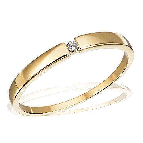 Goldmaid Damen-Ring Solitär Spannfassung