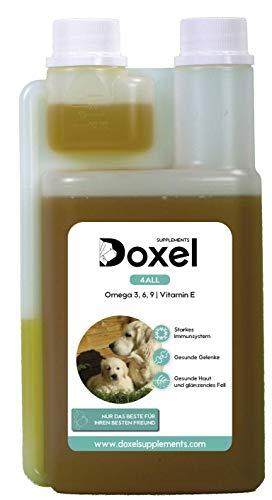 Doxel 4all-250 ml | Öl für Hunde | Natürliche Nahrungsergänzung | Gestärktes Immunsystem | Gesunde Gelenke | Gländenzdes Fell | Gesunde Haut | Omega 3 6 9-Fettsäuren | Vitamin E