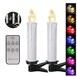 20er Christmas LED Candles Wireless RGB Christmas Candles Christmas Tree Candles Dimming Flickering Tree Candle Set, LED light color RGB + warm white