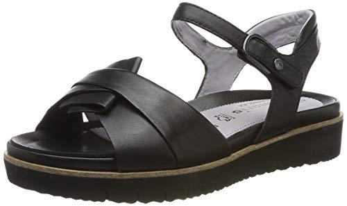 Tamaris 1-1-28327-22, Sandali con Cinturino alla Caviglia Donna, Nero (Black 1), 42 EU