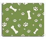 Liili Mauspad Naturkautschuk Mousepad Bild-ID: 24349253Hintergrund mit Hund Pfotenabdruck und Knochen auf Grün
