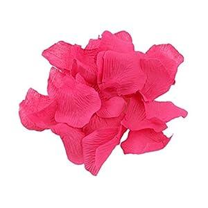 Shatchi 11617-ROSE-PETALS-DARK-PINK-400 - Confeti de pétalos de rosa (400 unidades), color rosa