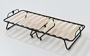 lit d 39 appoint pliable avec structure lattes en bois de h tre king cuisine maison. Black Bedroom Furniture Sets. Home Design Ideas