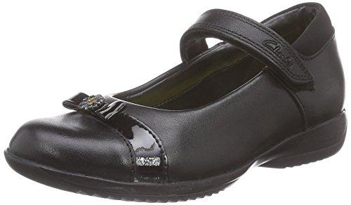 Clarks DaisyLocketInf, Mädchen Geschlossene Ballerinas, Schwarz (Black Leather), 29 EU