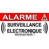 """Autocollant de dissuasion """"alarme surveillance électronique"""" lot de 10 pièces réf AS23"""
