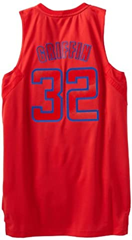 NBA Los Angeles Clippers Winter Court Big Color Swingman Jersey, #32 Blake Griffin, Red, X-Large