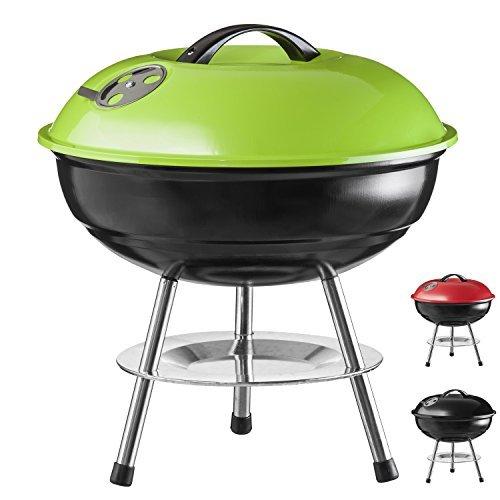 Goods & Gadgets Micro Barbecue à charbon compact en acier inoxydable émaillé 40 cm vert
