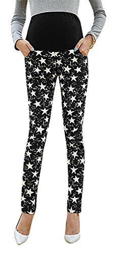 flora-womens-maternity-full-panel-close-fit-long-trousers-xerox-star-print-black-14-manufacturerxxl