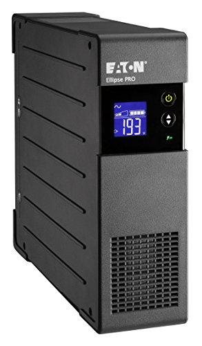 Eaton Ellipse PRO 650 DIN - Unterbrechungsfreie Stromversorgung (USV) 650 VA mit Überspannungsschutz (4 Schuko Ausgänge) und Spannungsregelung (AVR) -