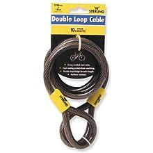 Sterling 122C Double Loop Vinyl Coated Multi-Stranded Braided Steel Cable, Black, 12mm x 2100mm