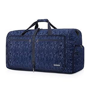 Gonex Bolsa de Viaje 60L, Plegable Ligero Bolso Equipaje Maleta Grande Bolsas Deportes Gimnasio Maletas de Mano Impermeable Duffel Travel Bag para Hombres y Mujeres Fin de Semana (Azul Camuflaje)