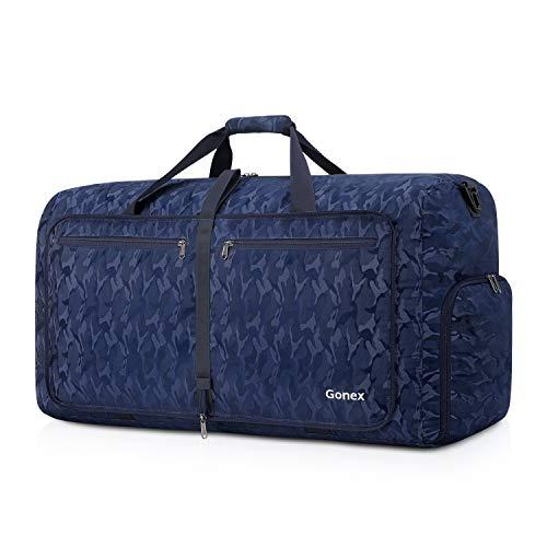 Gonex Leichter Faltbare Reise-Gepäck 60L, Farbe: Wald Blau, Duffel Taschen Uebernachtung Taschen/Sporttasche für Reisen Sport Gym Urlaub